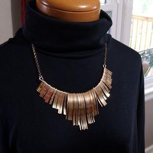 Vintage gold tone Statement necklace